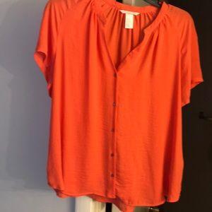 H&M Orange Blouse Size 10